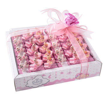 - Kız Bebek Doğum Hediyesi Biblolu Çikolata - 30 Adet
