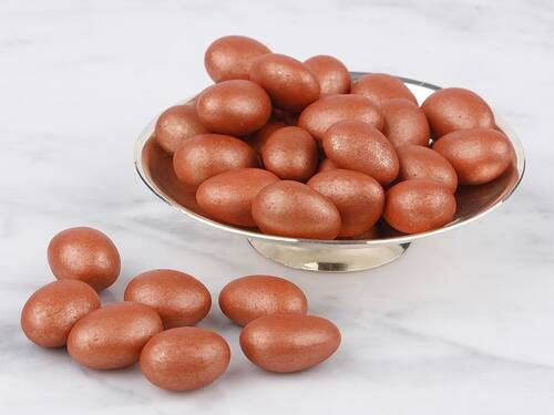 Bronz Renkli Çikolata Kaplı Badem Draje