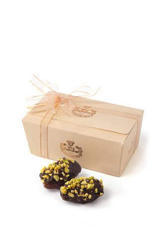 Çikolatalı İçi Fıstık Ezmeli Fıstık Kaplı Hurma - 10 Adet