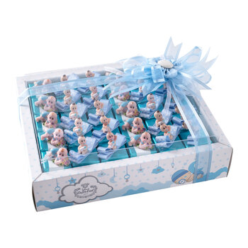 - Erkek Bebek Doğum Hediyesi Biblolu Çikolata - 30 Adet