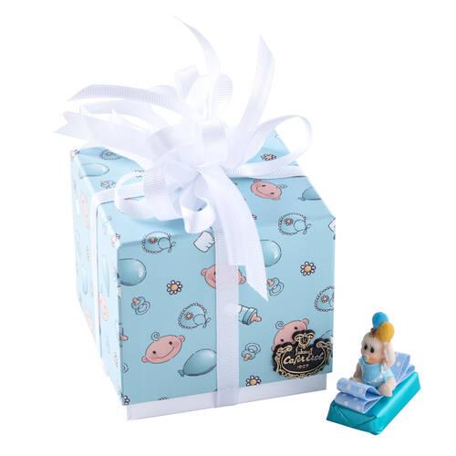 Erkek Bebek Doğum Hediyesi Dekorlu Çikolata Balonlu Kutu - 9 Adet