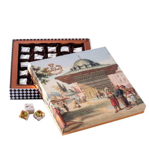 Hediyelik Kutuda Çifte Kavrulmuş Fıstıklı Lokum - Osmanlı Meydan