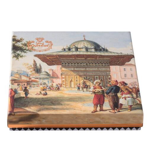 Hediyelik Kutuda Çikolata Kaplı Antep Fıstıklı Lokum - Osmanlı Meydan