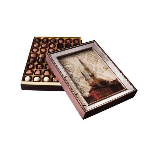 Hediyelik Spesiyal Çikolata Aynalı Çerçeve Camii