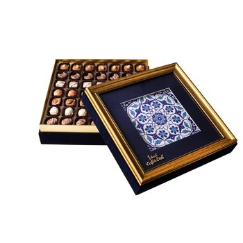 - Hediyelik Spesiyal Çikolata Çerçeveli Kutu Osmanlı Desen