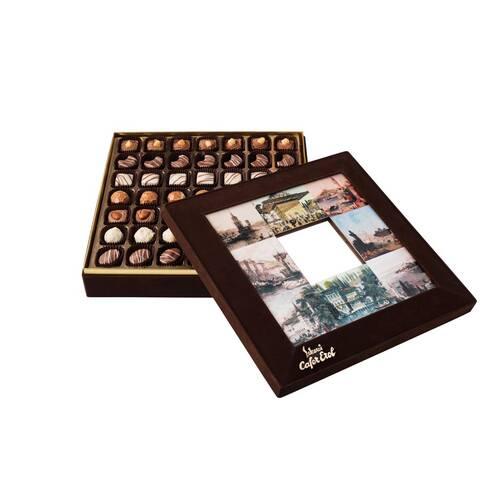 Hediyelik Spesiyal Çikolata Aynalı İstanbul Kutu