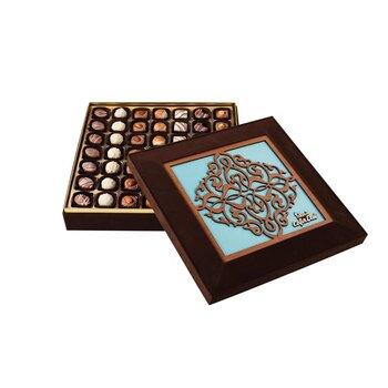 - Hediyelik Spesiyal Çikolata Lazer Kesim Mavi Kutu
