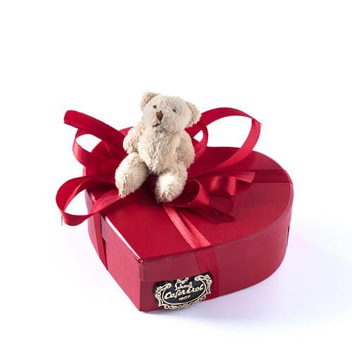 Karton Kalp Kutuda Spesiyal Çikolata - 5 Adet