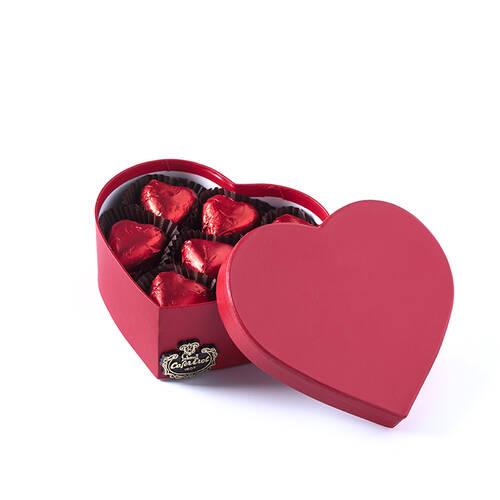 Karton Kalp Kutuda Spesiyal Çikolata - 7 Adet