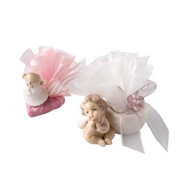 - Kız Bebek Doğum Çikolatası Melek Figürlü