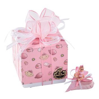 - Kız Bebek Doğum Hediyesi Dekorlu Çikolata Balonlu Kutu - 9 Adet