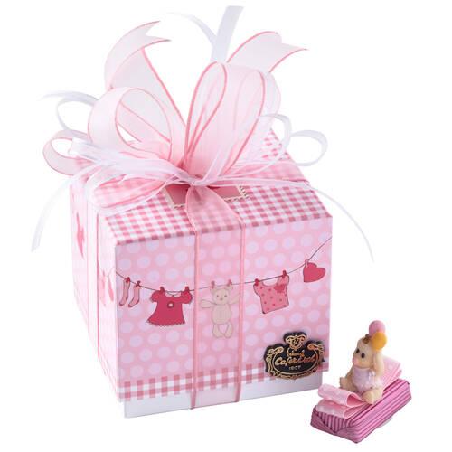Kız Bebek Doğum Hediyesi Dekorlu Çikolata Elbise Kutu - 9 Adet