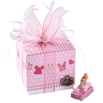 - Kız Bebek Doğum Hediyesi Dekorlu Çikolata Elbise Kutu - 9 Adet