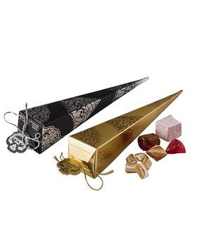 - Mevlüt Şekeri Karton Külah Siyah ve Gold