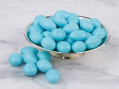Mavi Renkli Çikolata Kaplı Badem Draje