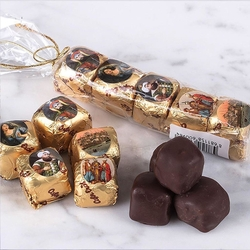 - Osmanlı Stickerli 5'Li Çikolata Kaplı Fıstıklı Lokum