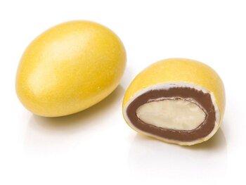 - Sarı Renkli Çikolata Kaplı Badem Draje
