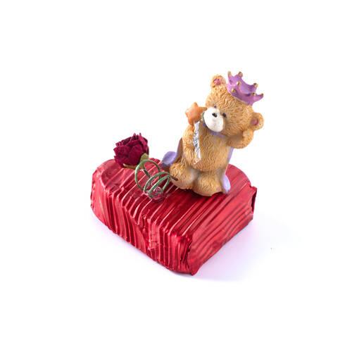 Sevgililer Günü Çikolatası Kalp 3 Adet - Kral Ayıcık