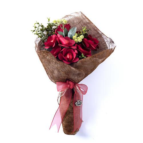 Sevgililer Günü Spesiyal Çikolata Demeti - 11Adet Kalp Dekorlu