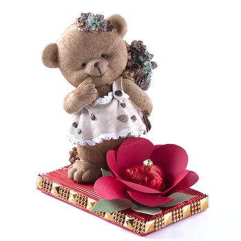 - Sevgililer Günü Tablet Çikolata - Çiçekçi Ayıcık