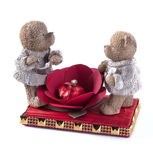 Sevgililer Günü Tablet Çikolata - Dondurma Yiyen Ayıcıklar