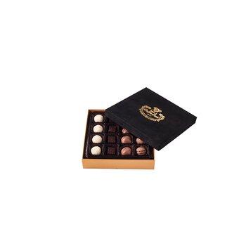 - Spesiyal 16'lı Siyah Tay Tüyü Kutu Çikolata