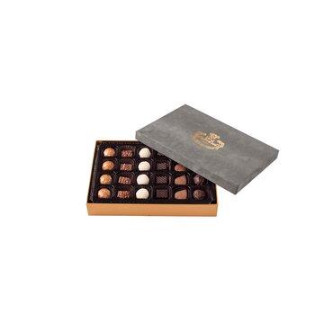 - Spesiyal 24'lü Gri Tay Tüyü Kutu Çikolata