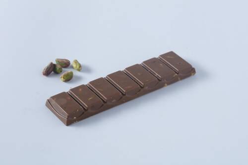 Sütlü Fıstıklı Tablet Çikolata - 40 Gr.