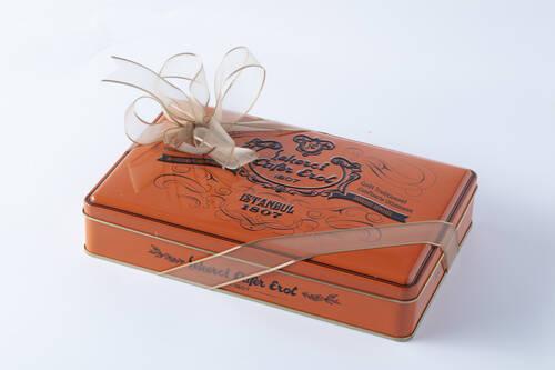 Turuncu Teneke Kutu Spesiyal Çikolata - 500 Gr.