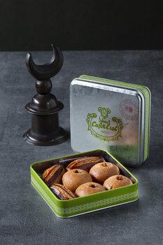 - Yeşil Teneke Kutu - Fıstıklı Şekerpare ve Badem Tatlısı