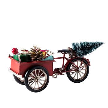 - Yılbaşı Aksesuarı - Sepetli Bisiklet Kırmızı