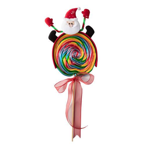 Yılbaşı Büyük Lolipop Şekeri - Merhaba Noel Baba 3 Adet