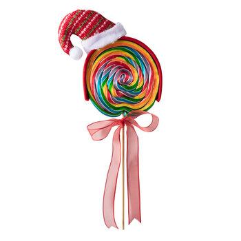 - Yılbaşı Büyük Lolipop Şekeri - Noel Şapkası 3 Adet