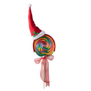 - Yılbaşı XL Lolipop Şekeri - Noel Şapkası 2