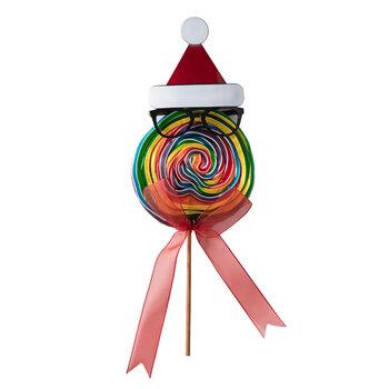 - Yılbaşı XL Lolipop Şekeri - Noel Şapkası